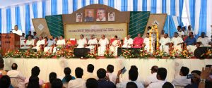 The Chief Minister of Kerala, Shri Pinarayi Vijayan addressing at the gathering at the declaration of the Open Defecation Free (ODF) Kerala State, under the Swachh Bharat Mission, in Thiruvananthapuram on November 01, 2016.