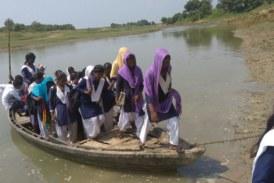 शिक्षा के लिए नौनिहालों की पानी परीक्षा..