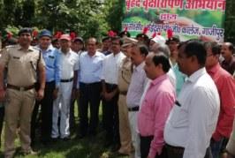 केवीके, पी जी कालेज गाजीपुर द्वारा चलाया गया वृक्षारोपण कार्यक्रम