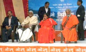The Union Minister for Water Resources, River Development and Ganga Rejuvenation, Sushri Uma Bharti at the Ganga Gram Yojana programme, at Village Pooth, District Hapur, Uttar Pradesh on January 04, 2016.